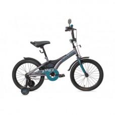 """Велосипед 12""""  Black Aqua Sharp  серый/морская волна"""