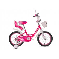 """Велосипед 12""""  Black Aqua  Sweet бело-розовый"""