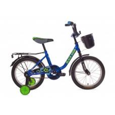 """Велосипед 14""""  Black Aqua 1404 с корзиной синий"""