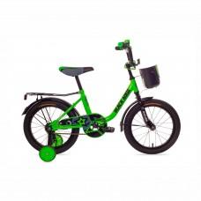 """Велосипед 12"""" BlackAqua 1204 (с корзиной, салатовый неон)"""